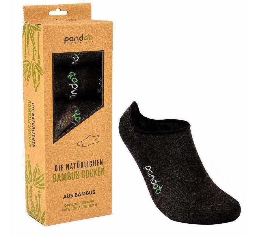 Bamboe Footies Sokken - Zwart - 6-Pack - Unisex