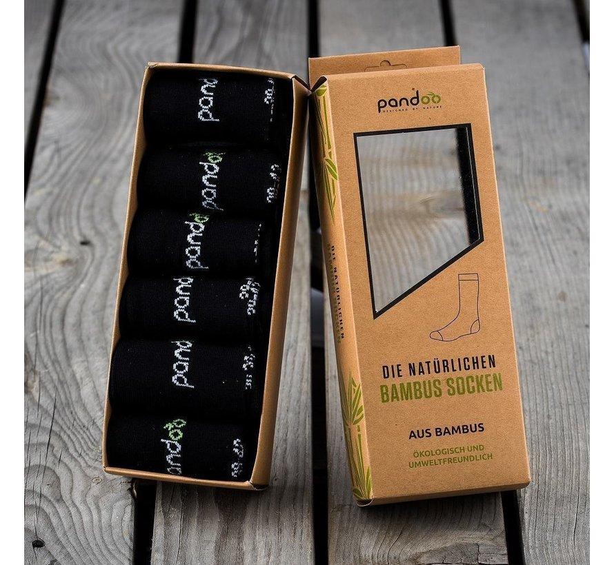 Bamboe Heren Sokken - Zwart- 6-Pack