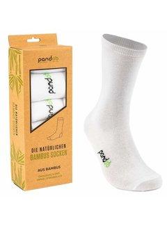 Sokken Bamboe Heren Sokken - Wit- 6-Pack