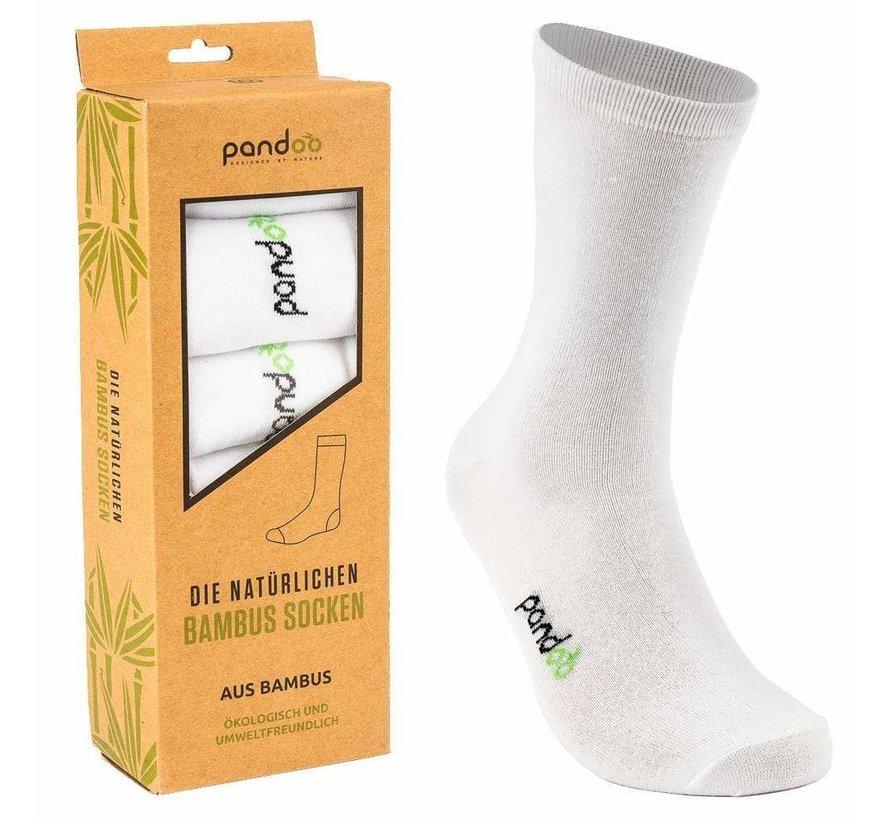 Bamboe Heren Sokken - Wit- 6-Pack