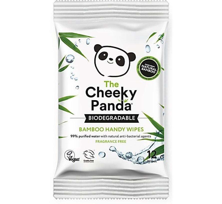 The Cheeky Panda Biologisch afbreekbare plasticvrije bamboe Handy wipes 4-Pack