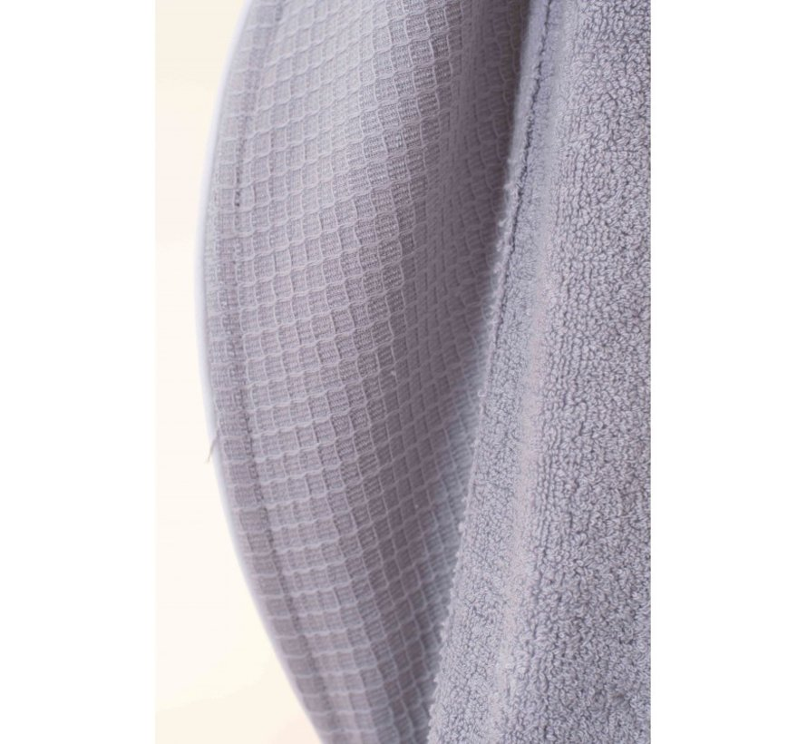 Bamboe -Wafel badjas  - Unisex - Licht grijs