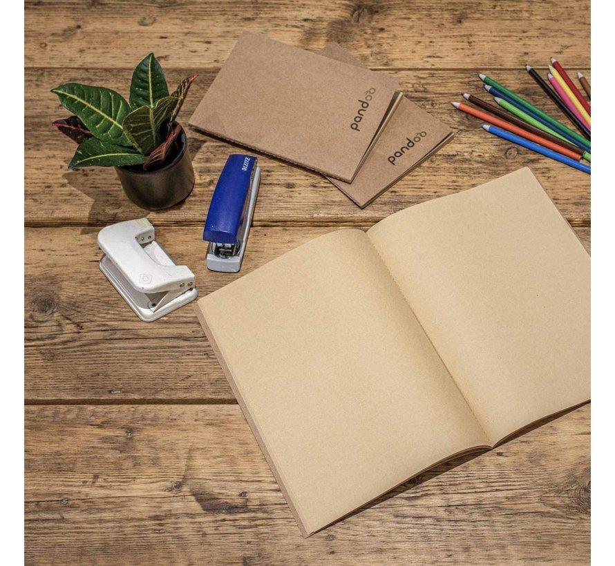 Pandoo - Noteboek A5 gemaakt van 100% bamboepulp- 5 Stuks