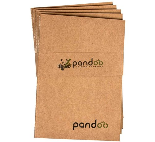 Notitieboeken Pandoo - Noteboek A5 gemaakt van 100% bamboepulp- 5 Stuks