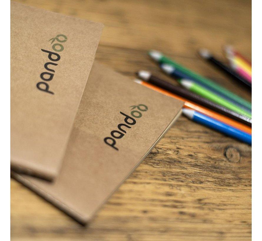 Pandoo - Noteboek A4 gemaakt van 100% bamboepulp