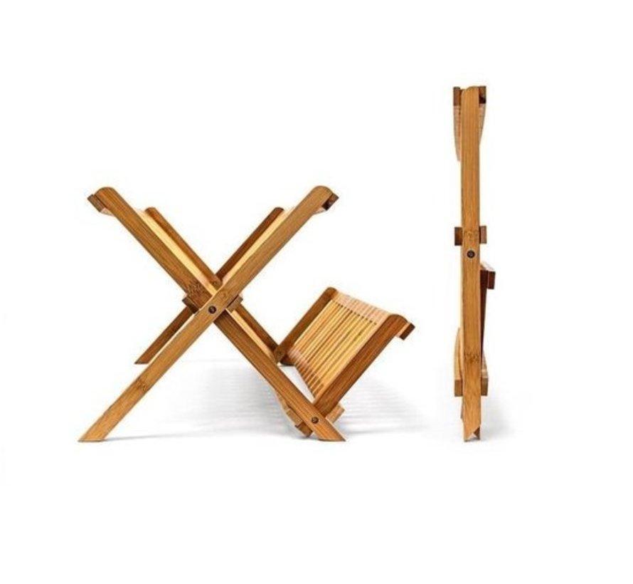 5Five - Bamboe afdruiprek voor afwas - Opvouwbaar