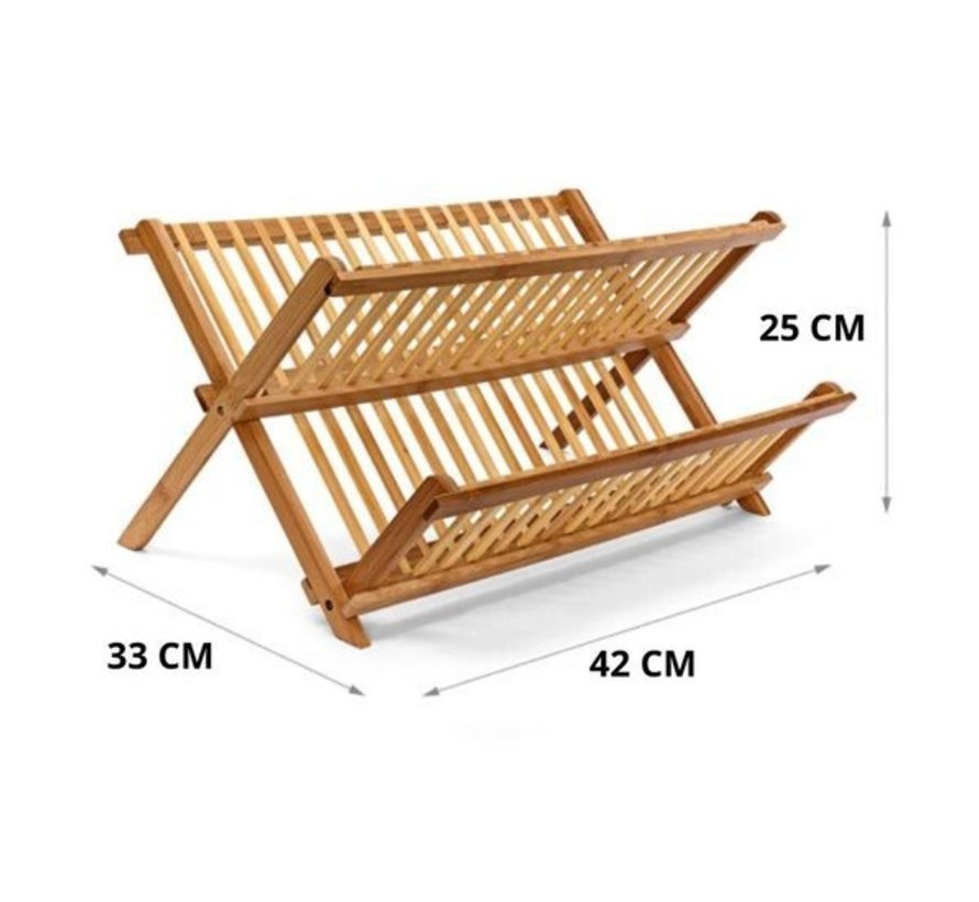 Five® - Bamboe afdruiprek voor afwas - Opvouwbaar