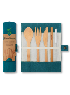 Bestek Bamboe herbruikbare bestekset in verschillende kleuren