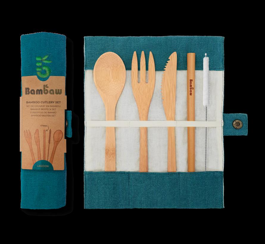 Bamboe herbruikbare bestekset