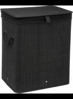 Wasmanden Zwarte bamboe wasmand -  40 x 30 x 50 cm