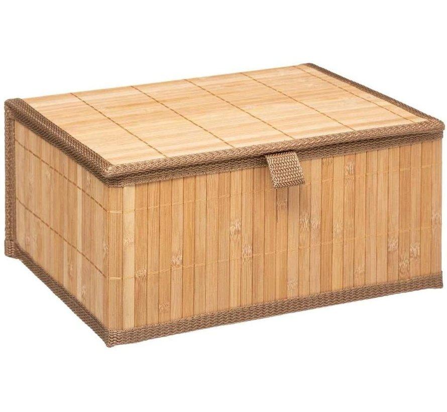 Natuurlijke bamboe mandjes 3-delig  van het merk Five®