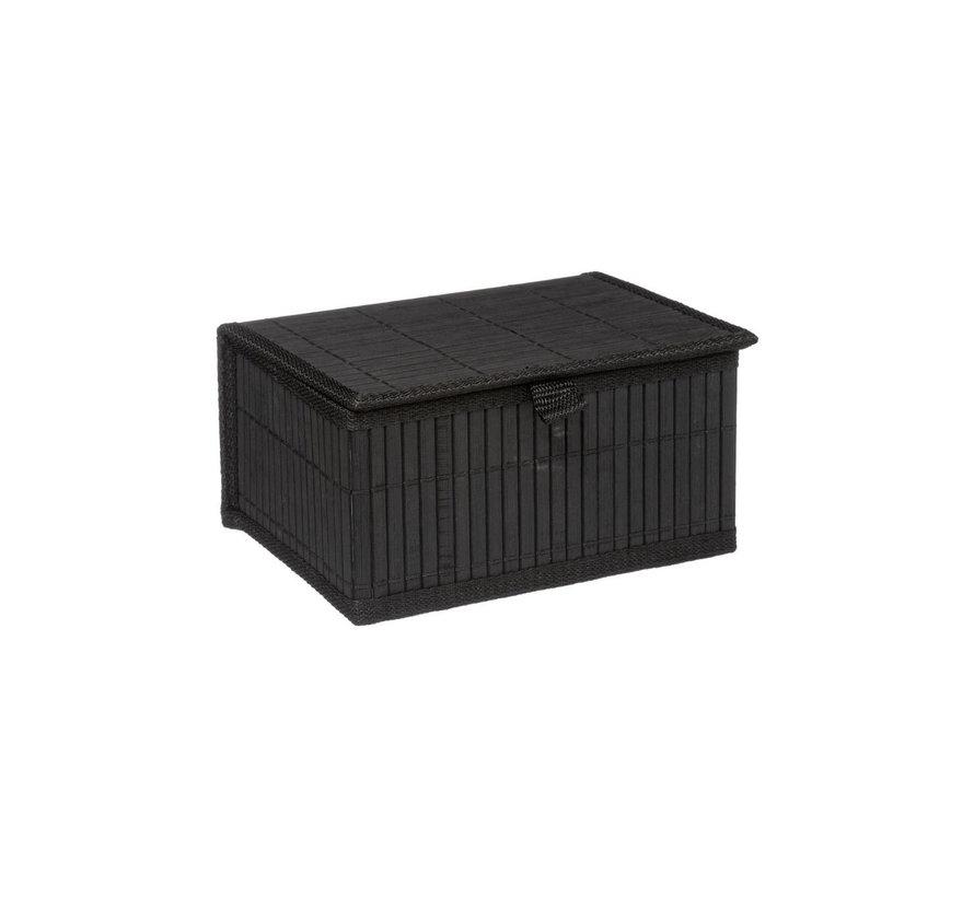 Zwarte bamboe mandjes 3-delig  van het merk Five®