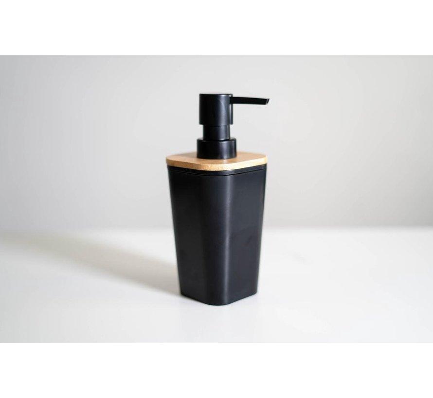 Bamboe Zeepdispenser  - Zwart - 500 ml