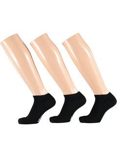 Sokken Apollo - Sneakersokken Naadloos - 3 Pack -  Zwart