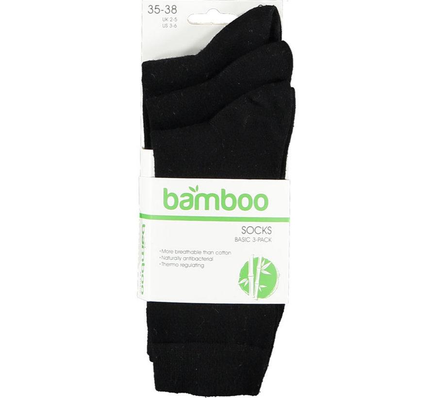 Apollo Bamboe Business  Sokken - Zwart- 3 Pack