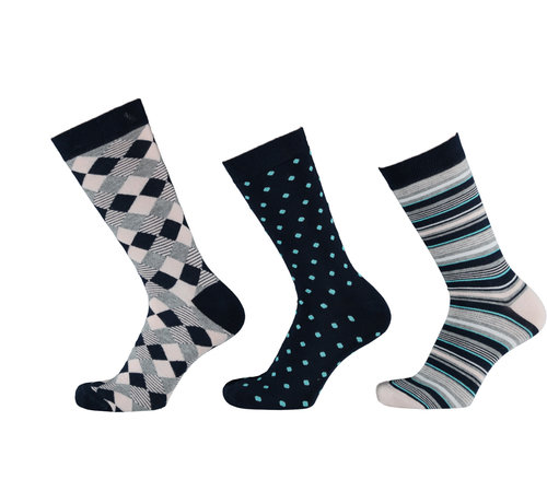 Sokken Apollo Bamboe Dames Sokken - Fashion Print- 3 Pack