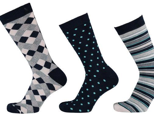 Sokken Apollo Dames Thermo Sokken - Fashion Print- 3 Pack
