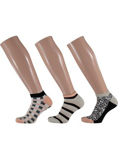 Sokken Apollo - Dames Sneakersokken - 3 Pack -  Multi Print