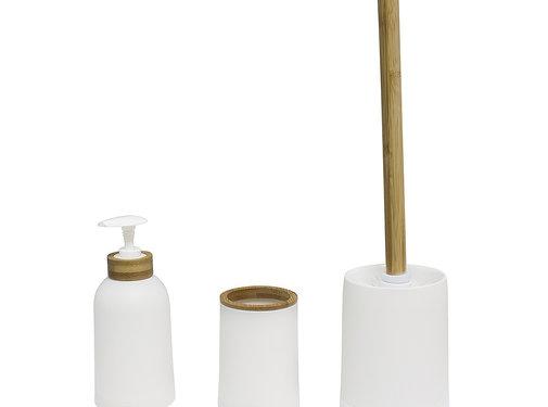 Toiletaccessoires Balvi Zen Bamboe Badkamer Set – Wit
