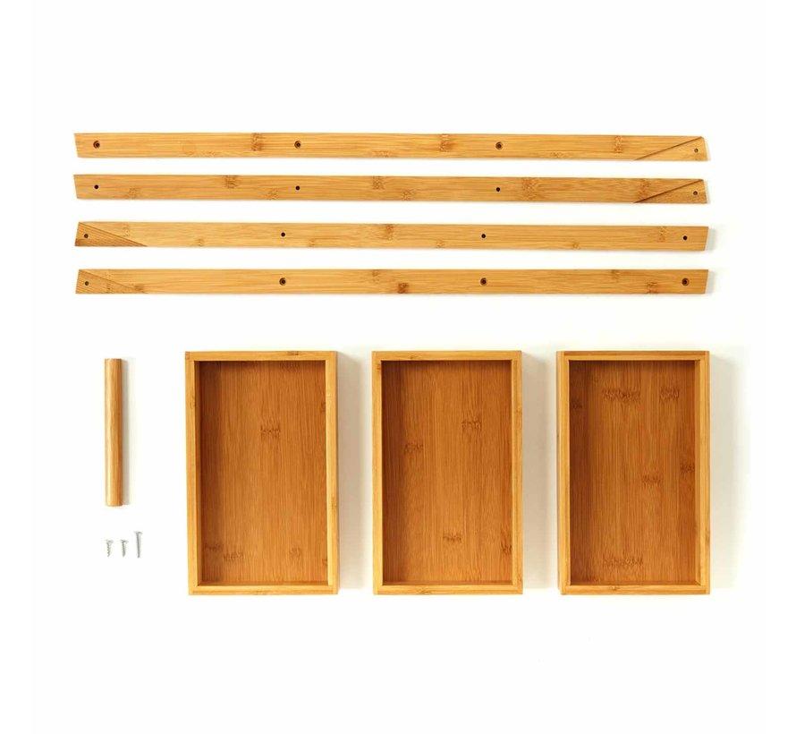 Bamboe badkamerplank - Opbergrekje met 3 lagen
