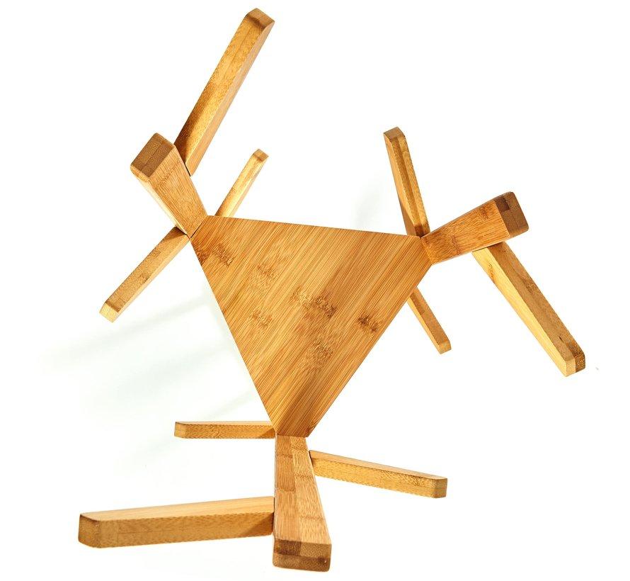 Bamboe Natuurlijke kledingrek - Afmetingen 166x32,5cm