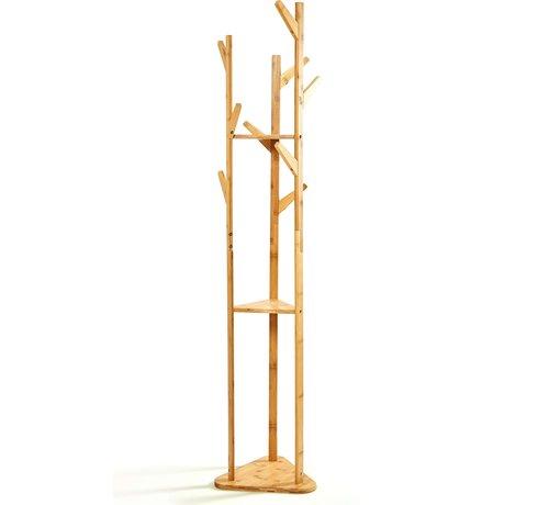 Kledingrekken Bamboe Natuurlijke kledingrek - Afmetingen 166x32,5cm