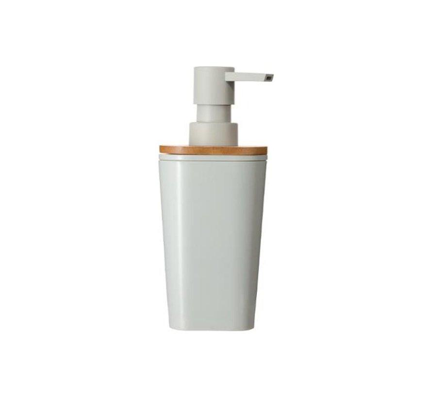 Bamboe Zeepdispenser  - Wit - 500 ml