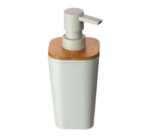 Zeepdispensers Bamboe Zeepdispenser  - 2 stuks - Wit - 500 ml