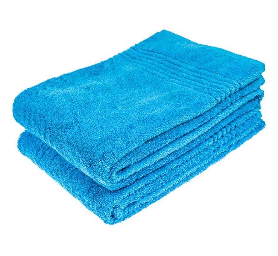 Bamboe handdoek Blauw 140 x 70 cm