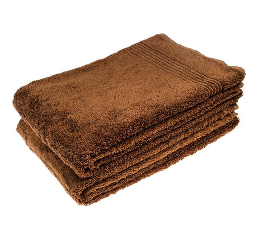 Bamboe handdoek bruin 140 x 70 cm