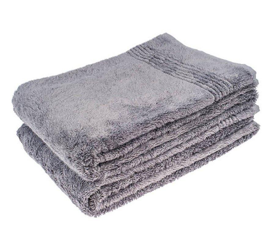 Bamboe handdoek grijs 140 x 70 cm