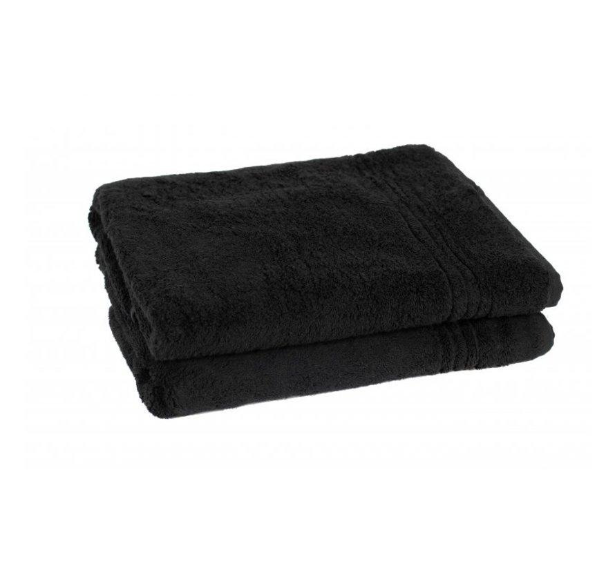 Bamboe handdoeken Zwart 140 x 70 cm