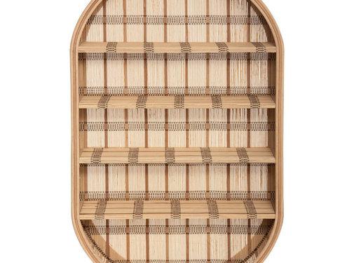 Wandrekken Naturel Bamboe Wandplank - Wandrek 91 x 56 cm