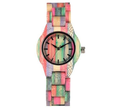 Heren horloges Bamboe horloge Londen - Unisex