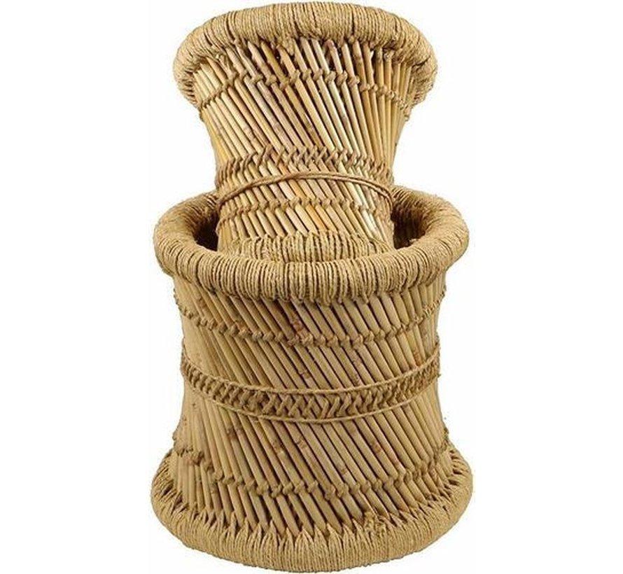 Krukjes van Bamboe & hennep -  Ibiza Boho stijl - Naturel