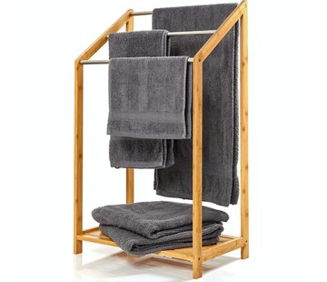 Handdoekhouders Handdoekhouder met metalen stutten & plank - 85x51x31cm