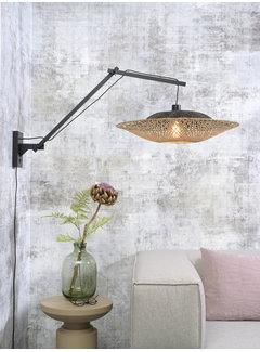 Wandlampen Wandlamp Kalimantan - Good&Mojo - Zwart