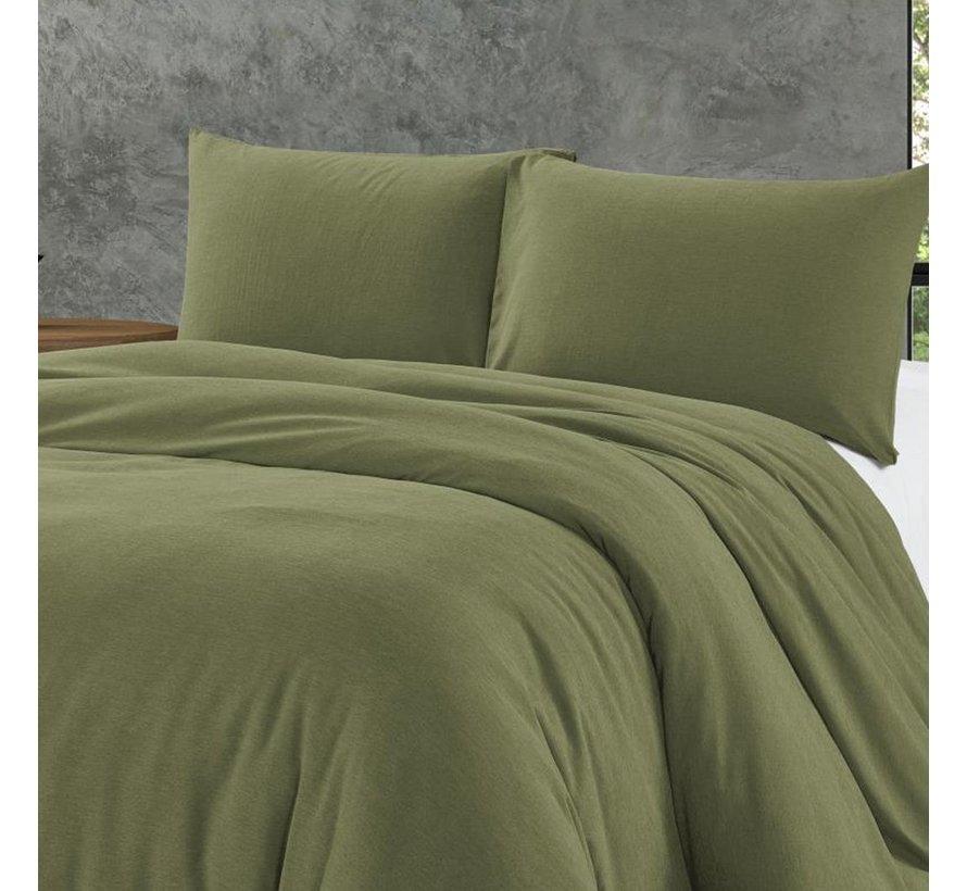 Bamboo Touch Dekbedovertrek- Inclusief 2 x kussensloop - Groen