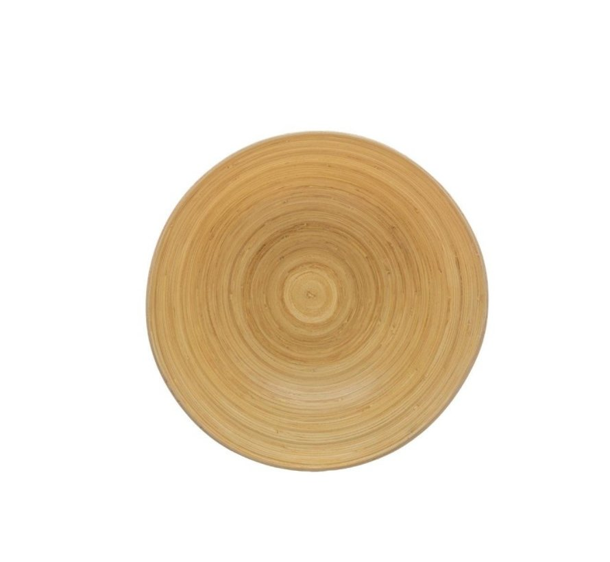 Fruitschaal van Bamboe - Grijs - 17 cm diameter