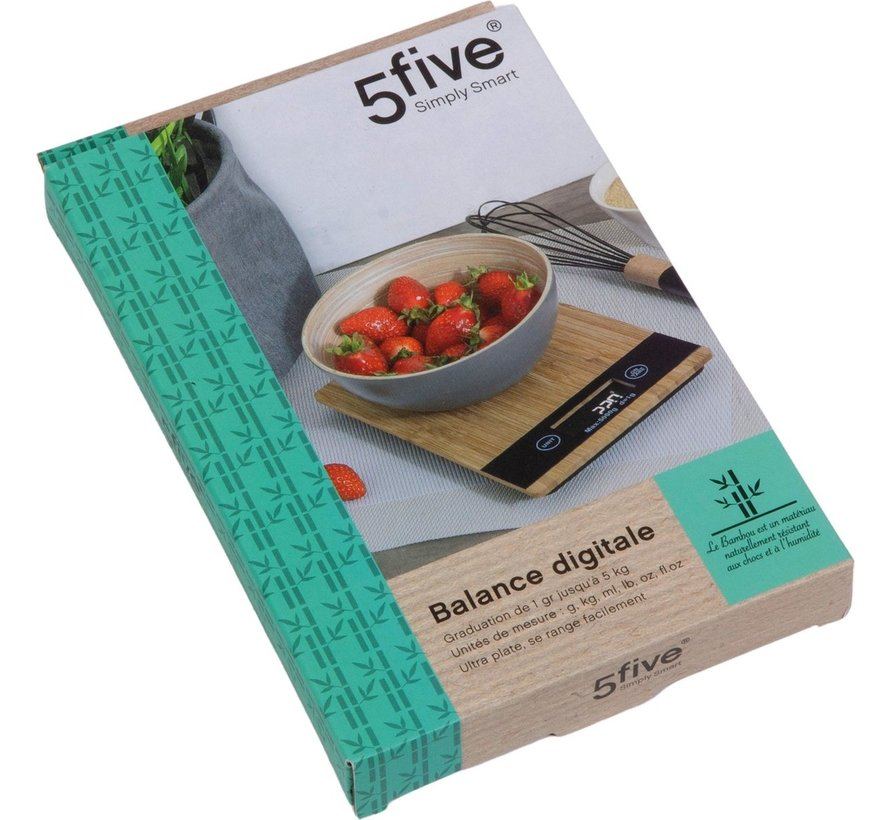Five ® Bamboe keukenweegschaal - Zeer nauwkeurig