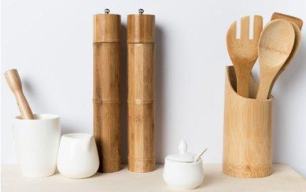 Bamboe artikelen voor in de keuken