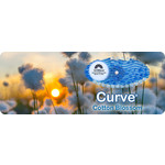 Uriwave Uriwave Curve Katoen Bloessem (Blauw) 10 stuks