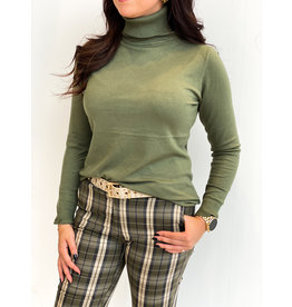 HEBBEZ Loose fit colletje - Army green
