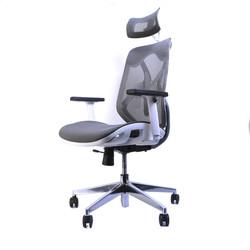Chaise de bureau ergonomique ERGO-2 - Gris/Blanc