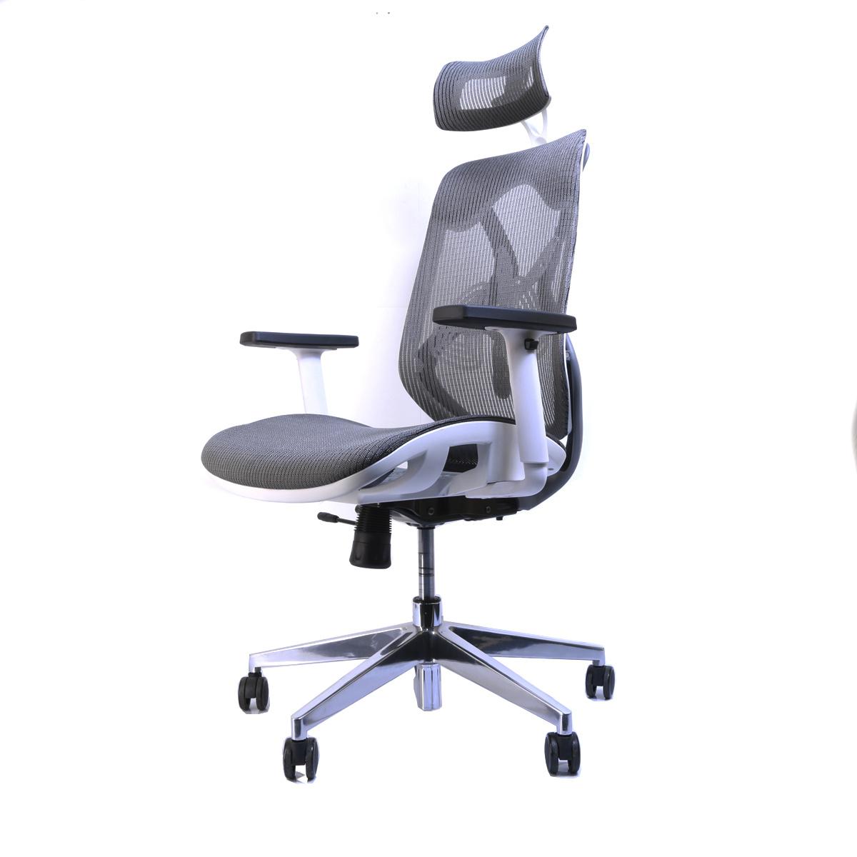 Bureaustoel Wit Design.Ergonomische Bureaustoel Ergo 2 Grijs Wit Deals2day