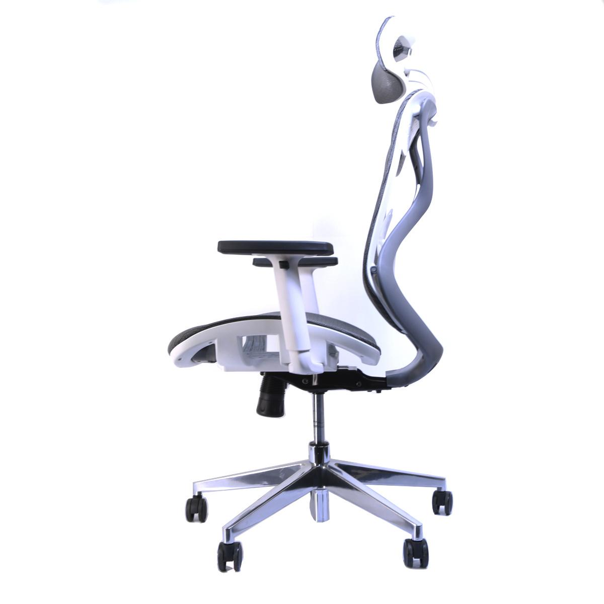 Design Bureaustoel Wit.Ergonomische Bureaustoel Ergo 2 Grijs Wit Deals2day