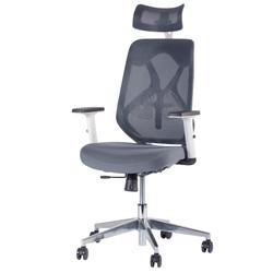 Chaise de bureau ergonomique ERGO-1 - Gris/Blanc