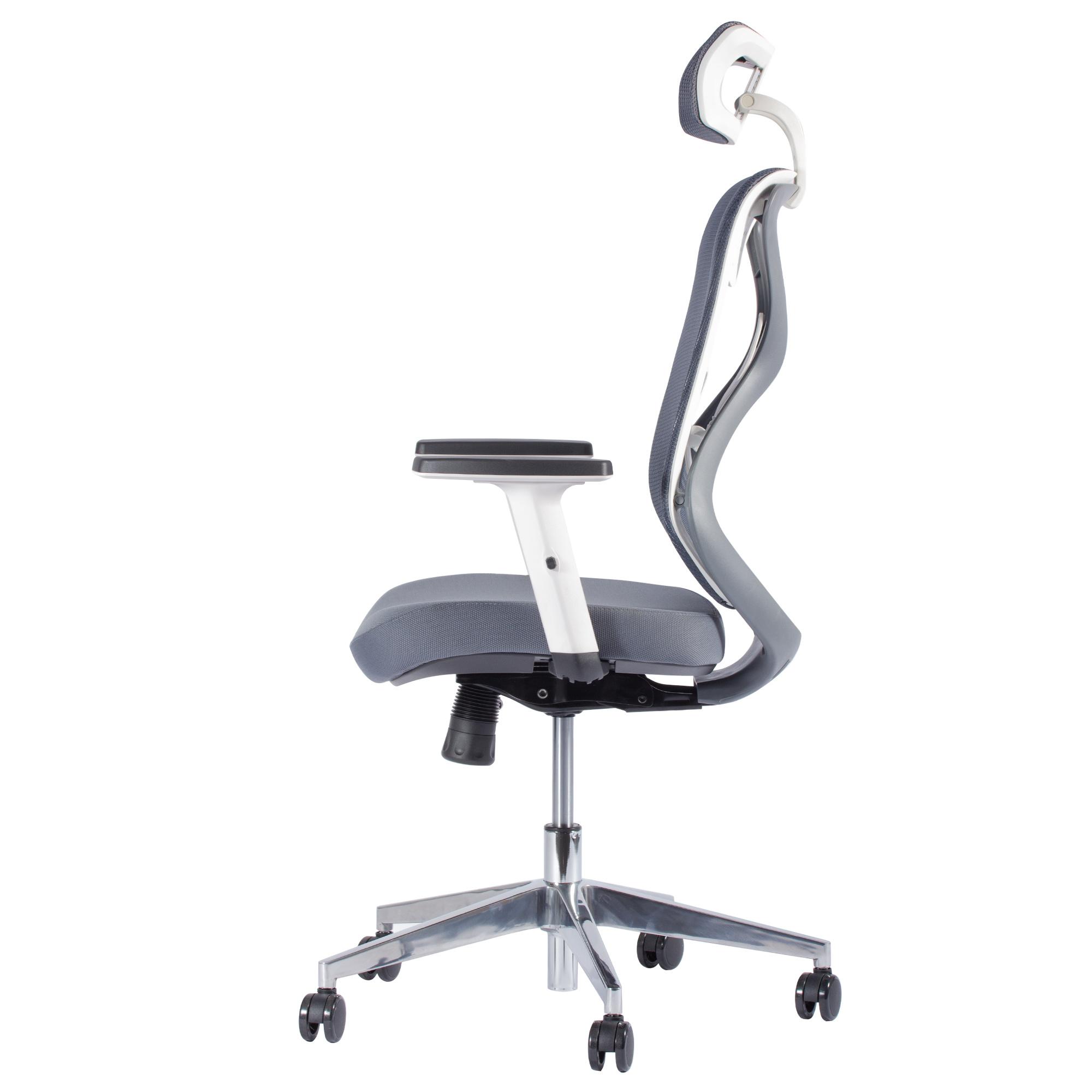 Design Bureaustoel Wit.Ergonomische Bureaustoel Ergo 1 Grijs Wit Deals2day