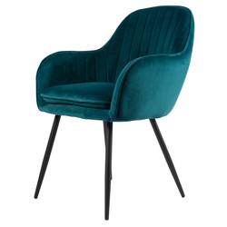 Chaise  Viola - Bleu pétrole