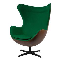 Egg Chair - Groen / Houtfineer